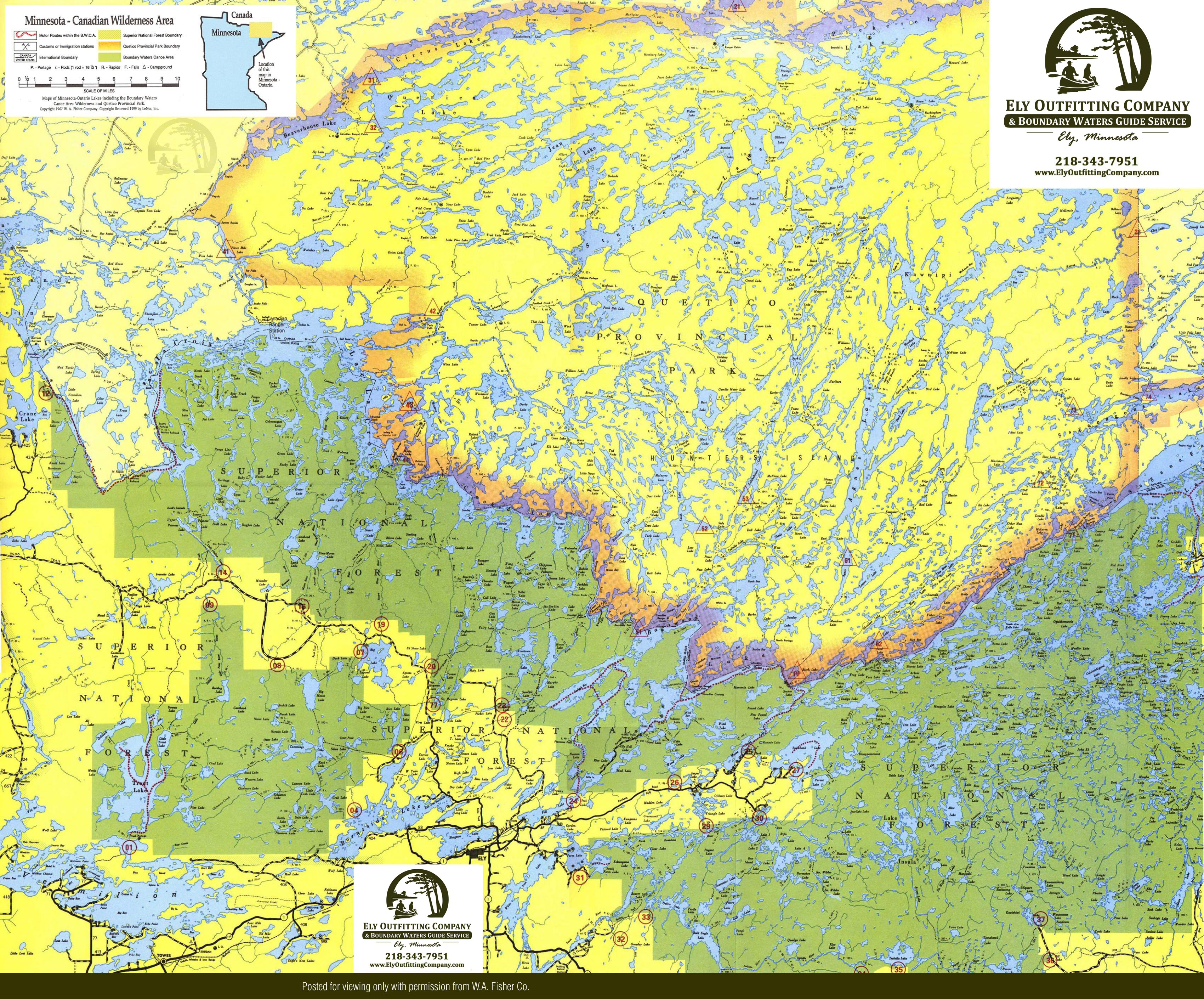 Boundary Waters Canoe Area Map | BWCA Route Planning Map